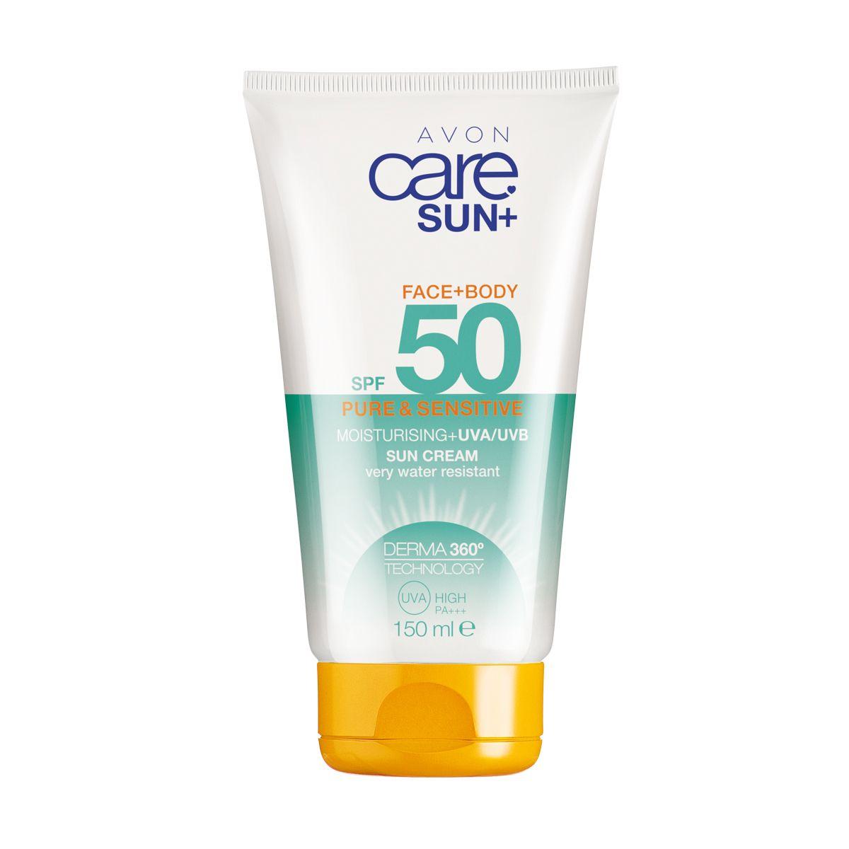 إفون كير صن بيور أند سينسيتيف كريم للعناية ببشرة الوجه و الجسم واقي من الشمس. بعامل حماية من الشمس SPF50 150ml 94797