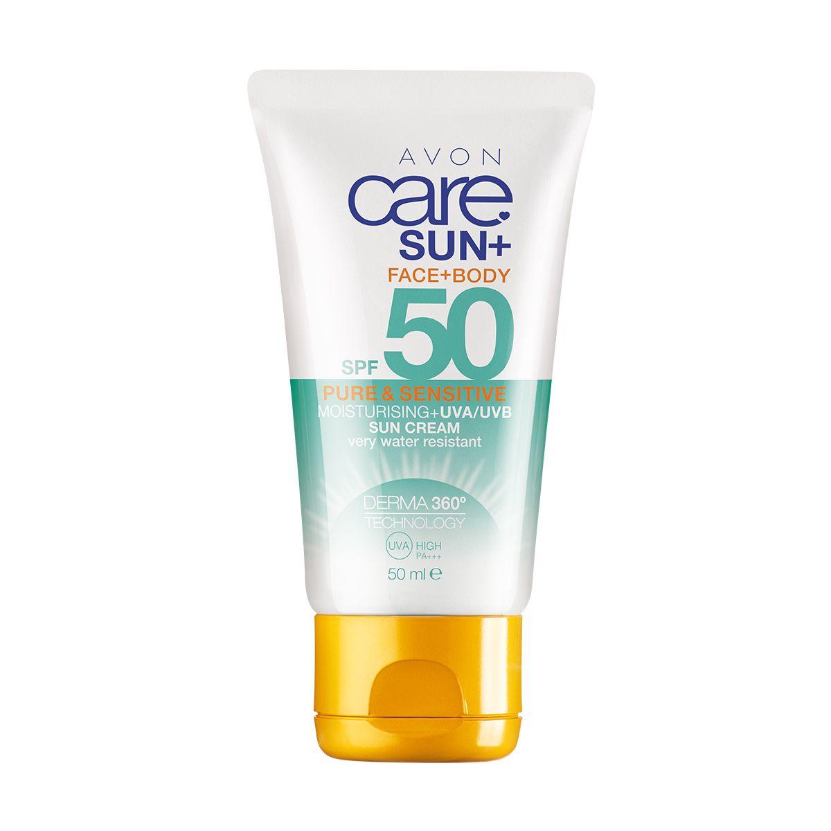 إفون كير صن بيور أند سينسيتيف كريم للعناية ببشرة الوجه و الجسم واقي من الشمس. بعامل حماية من الشمس SPF50  50ml 11922